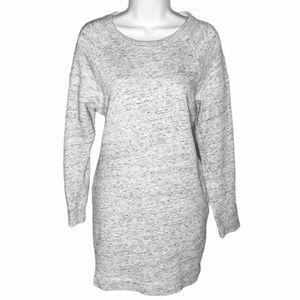 H&M LOGG Sweatshirt Mini Shirt Dress Heather Gray